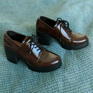 Zara Combat Oxford Platform Shoes